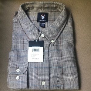 Ivy Crew Brown Check Shirt New With Tag